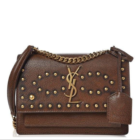 Yves Saint Laurent Handbags - {Saint Laurent} YSL Studs Crossbody Bag